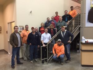 manhard consulting volunteers, northern illinois food bank, tim murphy, giving back